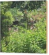 Leaming Run Gardens Pond Wood Print