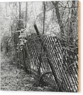 Leaning Fence Wood Print