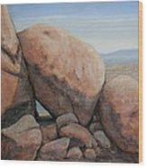 Leaning Rocks Wood Print