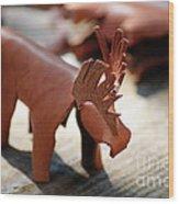 Leather Elk  Wood Print