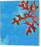 Leaves Against The Sky Wood Print