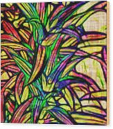 Leaves Of Imagination Wood Print by Judi Bagwell