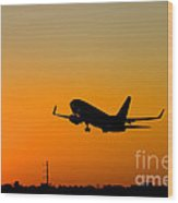 Leaving On A Jet Plane Wood Print