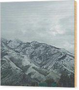 Leaving Salt Lake City Wood Print