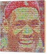 Lebron James Pez Candy Mosaic Wood Print