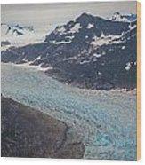 Leconte Glacial Flow Wood Print by Mike Reid