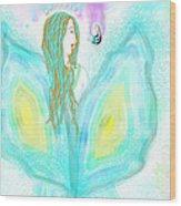 Leelavy Fairy / Fada Leelavy Wood Print by Rosana Ortiz
