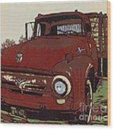 Leeser's Truck - Linocut Print Wood Print
