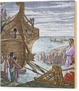 Legend Of Archimedes And The Lever Wood Print