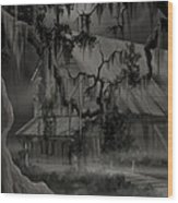 Legend Of The Old House In The Swamp Wood Print