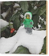 Lego Mini Eskimo In Holly  Wood Print