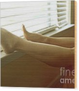 Legs At The Window Wood Print by Tos