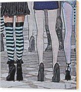 Legs Wood Print by Jutta Maria Pusl