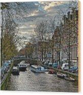 Leidsegracht. Amsterdam Wood Print