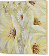 Lemon Chiffon Wood Print