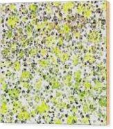 Lemon Lime Abstract Wood Print