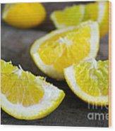 Lemon Quarters Wood Print