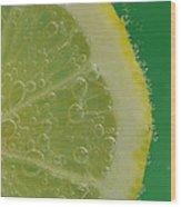Lemon Slice Soda 1 Wood Print