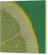 Lemon Slice Soda 2 Wood Print