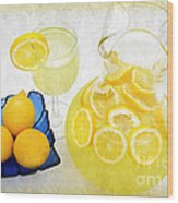 Lemonade And Summertime Wood Print