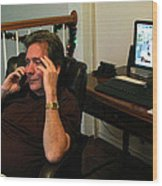 Len Calling 2009 Wood Print