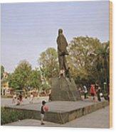 Lenin In Hanoi Wood Print
