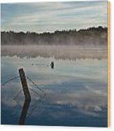 Lenthalls Dam 02 Wood Print by David Barringhaus