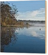 Lenthalls Dam 03 Wood Print by David Barringhaus