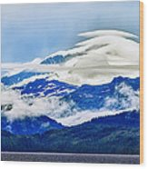 Lenticular And The Chugach Mountains Wood Print