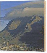Lenticular Cloud Over Table Mountain Wood Print