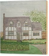 Leominster Cottage Wood Print