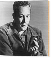 Leon Uris, Circa Mid-1950s Wood Print by Everett