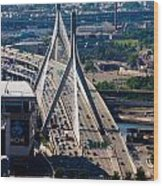 Leonard Yakim Bunker Hill Memorial Bridge Wood Print