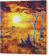 Leopard Dream Meditation Wood Print