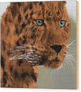 Leopard - Featured In The Group Wildlife Wood Print