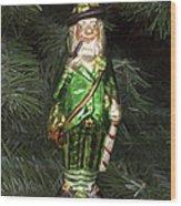 Leprechaun Christmas Ornament Wood Print