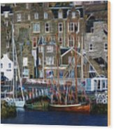 Lerwick Harbour Shetland Wood Print