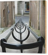 Lerwick Lanes Wood Print