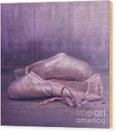 Les Chaussures De La Danseue Wood Print