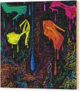 Les Couleur Des Chaussures Numero 1 Wood Print by Kenal Louis