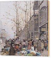 Les Halles And St. Eustache Wood Print