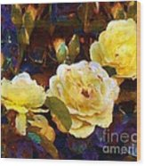 Les Roses Sauvages Wood Print