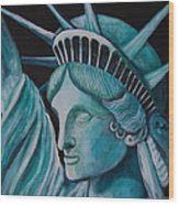 Let Freedom Ring Wood Print by Janna Columbus