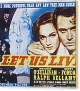 Let Us Live, Maureen Osullivan, Henry Wood Print by Everett
