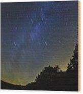 Letchworth Star Trails Wood Print