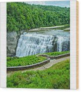 Letchworth Upper Falls Wood Print