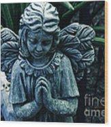 Lets Pray Wood Print by Susanne Van Hulst
