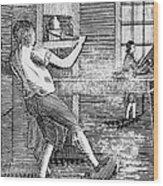 Letter Press Printer, 1807 Wood Print