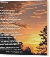 Letter To Grandma Wood Print