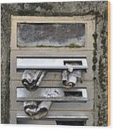 Letterbox With Old Newspapers Wood Print by Matthias Hauser